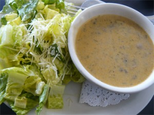 Caesar Salad with Hungarian Mushroom Soup